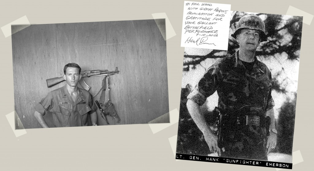 Photos of Phil Ward and Lt. Gen. Hank Gunfighter Emerson